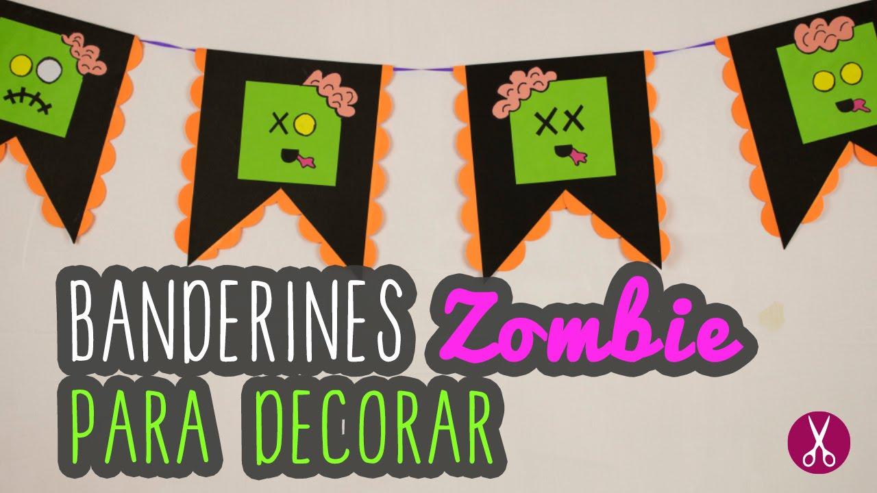 Decoraciones para halloween zombies para ni os diy - Manualidades halloween faciles para ninos ...