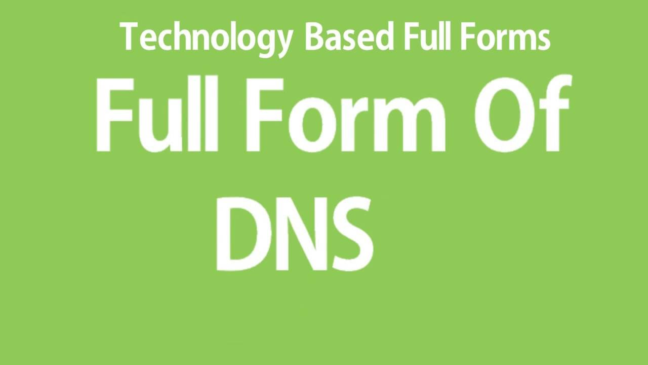 Full Form Of DNS - YouTube