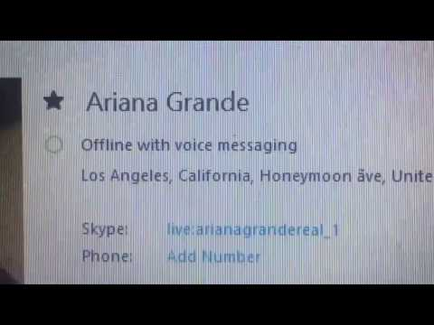 Ariana Grande Skype name 2016 (real with proofs) by Ariana