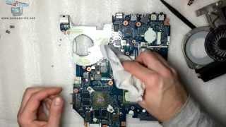 Чистка системы охлаждения ноутбука Acer Aspire 5750G в Барселоне(Чистка системы охлаждения ноутбука в Барселоне. Acer Aspire 5750G, платформа P5WE0 LA-6901P REV1.0 Как разобрать ноутбук..., 2014-12-29T14:22:18.000Z)