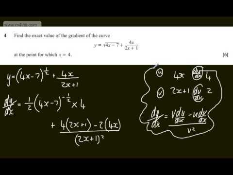 q4 Core 3 C3 OCR June 2013   A2 Past maths paper   Exam   mathematics solutions