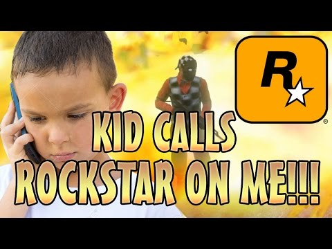 KID CALLS ROCKSTAR ON ME!! GONE WRONG! (GTA 5 MODS)