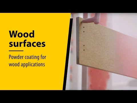 Powder coating for wood applications by WAGNER