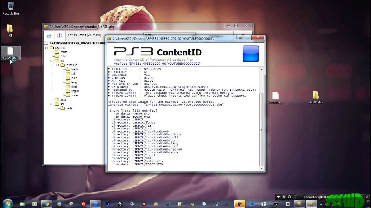 HOW TO EXTRACTING AND REPACKING PS3 PKG FILE USING PS3 ALDO TOOLS