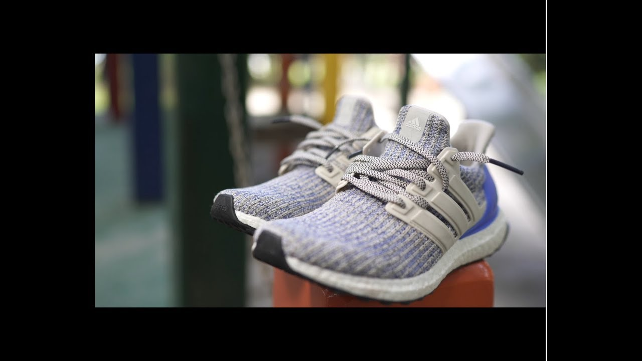 0d4fca133cf74 Adidas Ultra BOOST Chalk Pearl and Royal Blue   White 4.0 review
