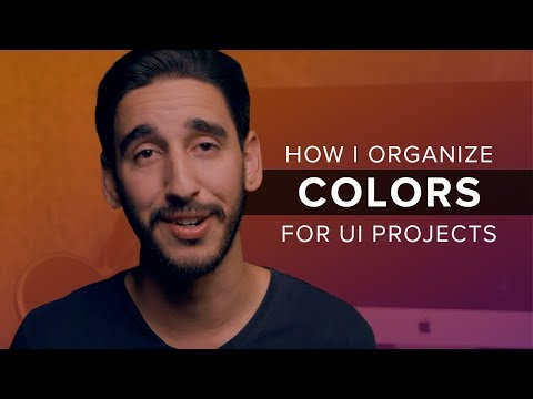 How I Organize Colors For A UI Design Project
