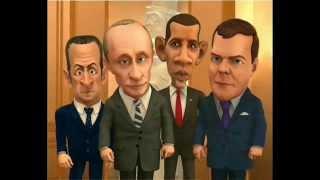 Путин и Медведев поздравляют Владимира с днем рождения.