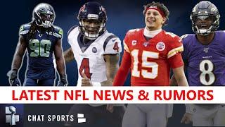 NFL News & Rumors: Raheem Mostert, Jadeveon Clowney, Patrick Mahomes, Deshaun Watson & Lamar Jackson