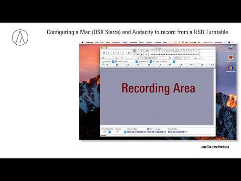 Set up Audacity on a Mac (OS X Sierra and Newer)