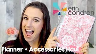 HUGE Erin Condren Haul 2017 | Planner, Stickers + Accessories