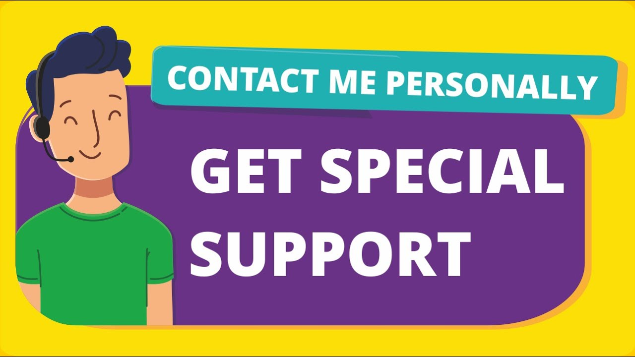 Get Special Support! Contact Me Personally, Don't Leave Your WordPress Website Incomplete