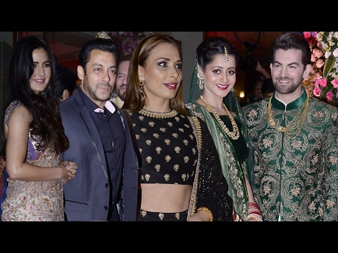 Salman Khan With Katrina Kaif And Iulia Vantur At Neil Nitin Mukesh's Wedding Reception