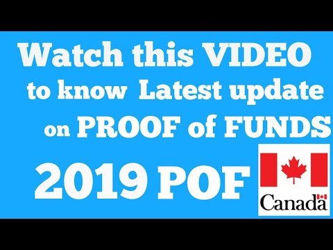 Proof Of Funds(POF) 2019- Latest Update From CIC