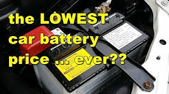 Car battery prices ... who really has the lowest price?