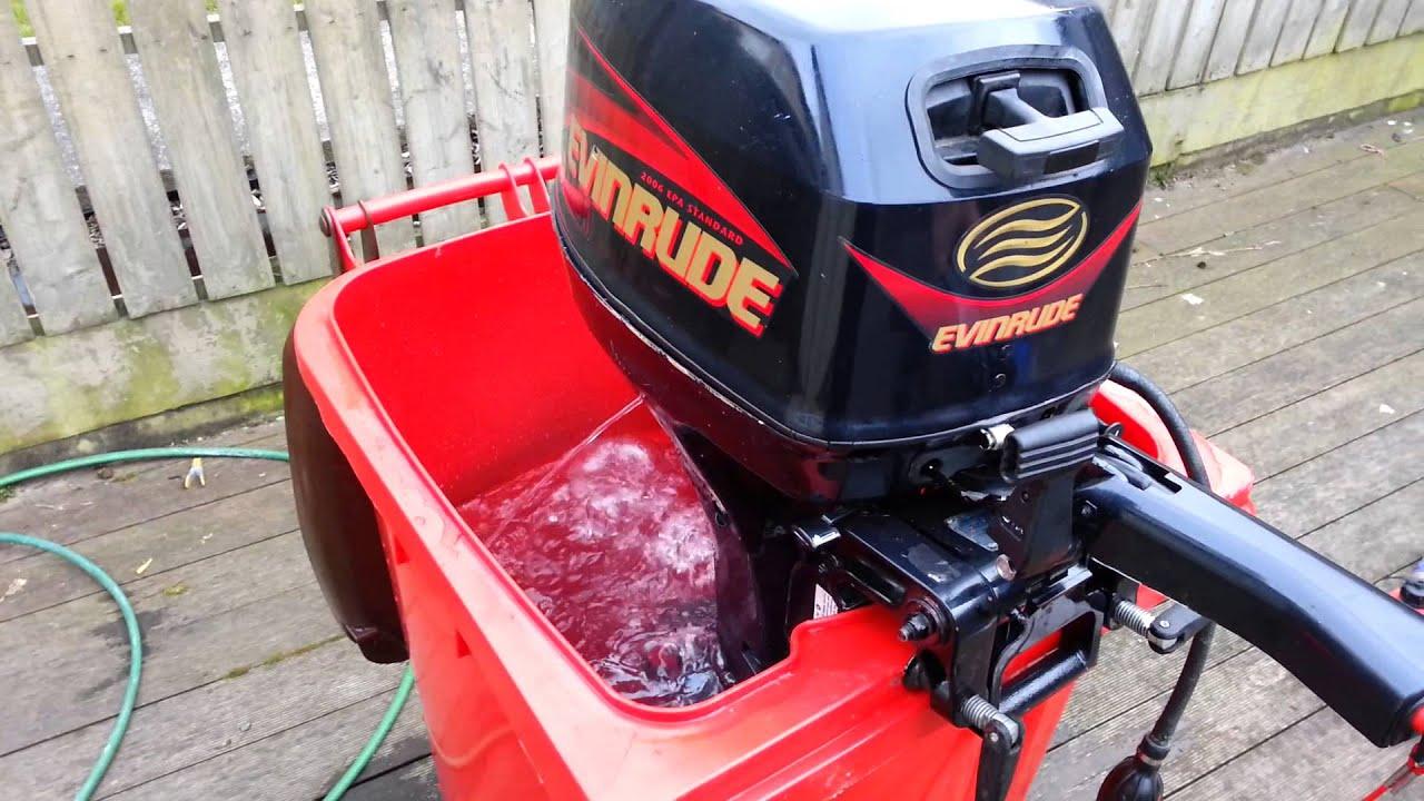 Evinrude 8 hp 4 stroke - YouTube