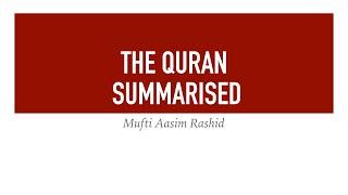 Summary of Surah Hijr, Nahl | Mufti Aasim Rashid