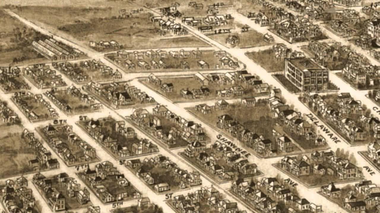 Bartlesville Oklahoma 1917 Panoramic Birds Eye View Map 6416 YouTube