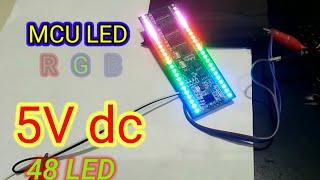 VU LED RGB DISPLAY 2X24 LED