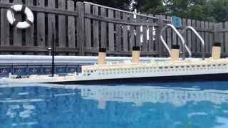 LEGO Titanic Model Sinking【Portside View】