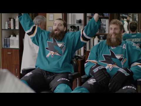 San Jose Sharks Beard commercial with me