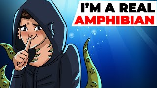 I am a Real Amphibian Boy | Animated Story about Super Powers
