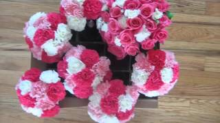 Picture Combination Of Lovely Flowers   Carnation And Rose Wedding Bouquet