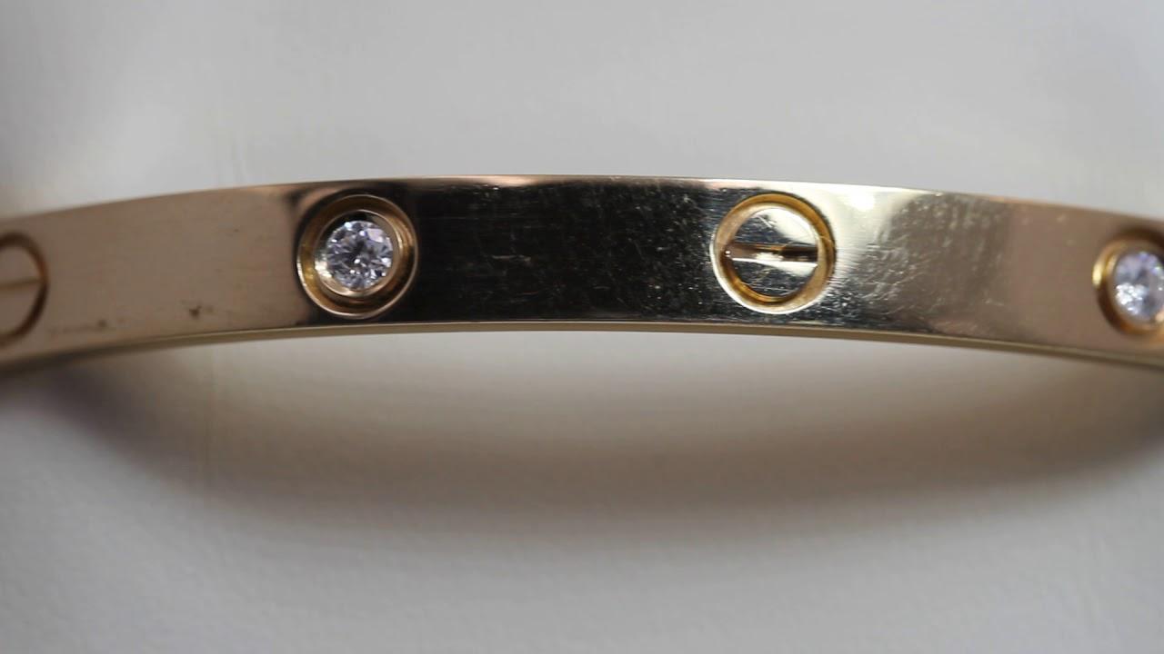 e21a2bacd85a Pulsera CARTIER LOVE 4 diamantes de oro de segunda mano E328062