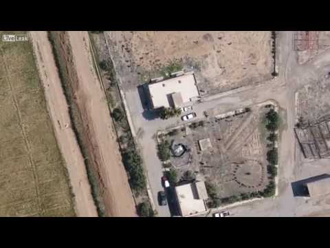 Drone footage of fleeing soldiers hit by shrapnel