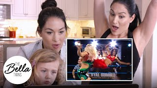 Bella Twins react to their Britney Spears-inspired outfits at FCW! - Bella Playback