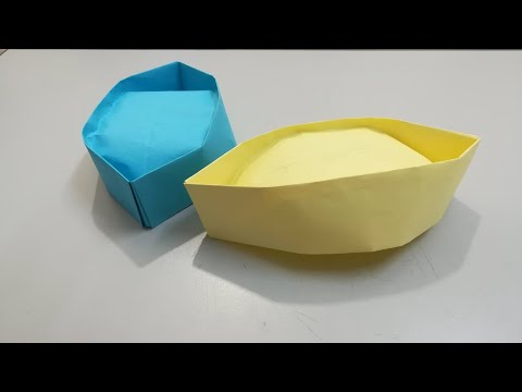 تعلم صنع قبعة بحار من الورق سهل How to make a paper Sailor hat