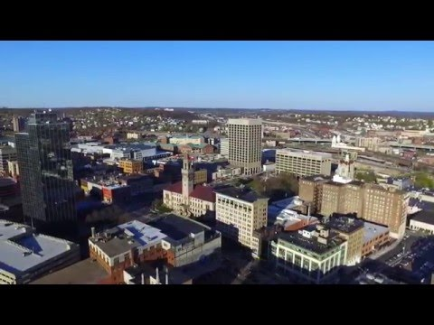 Downtown Worcester Skyline By Aerial Drone! - 2.7K DJI Phantom 3 Over Skyscrapers in Worcester, MA
