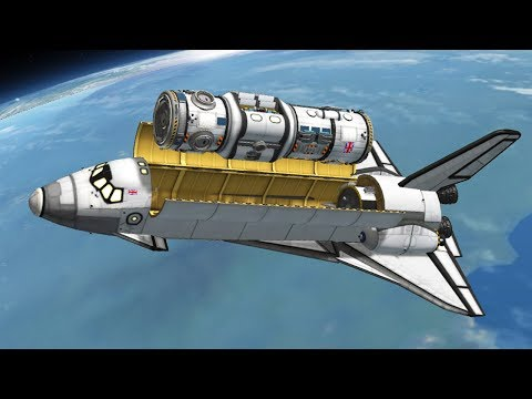 KSP: Building a Space Station with Shuttles!