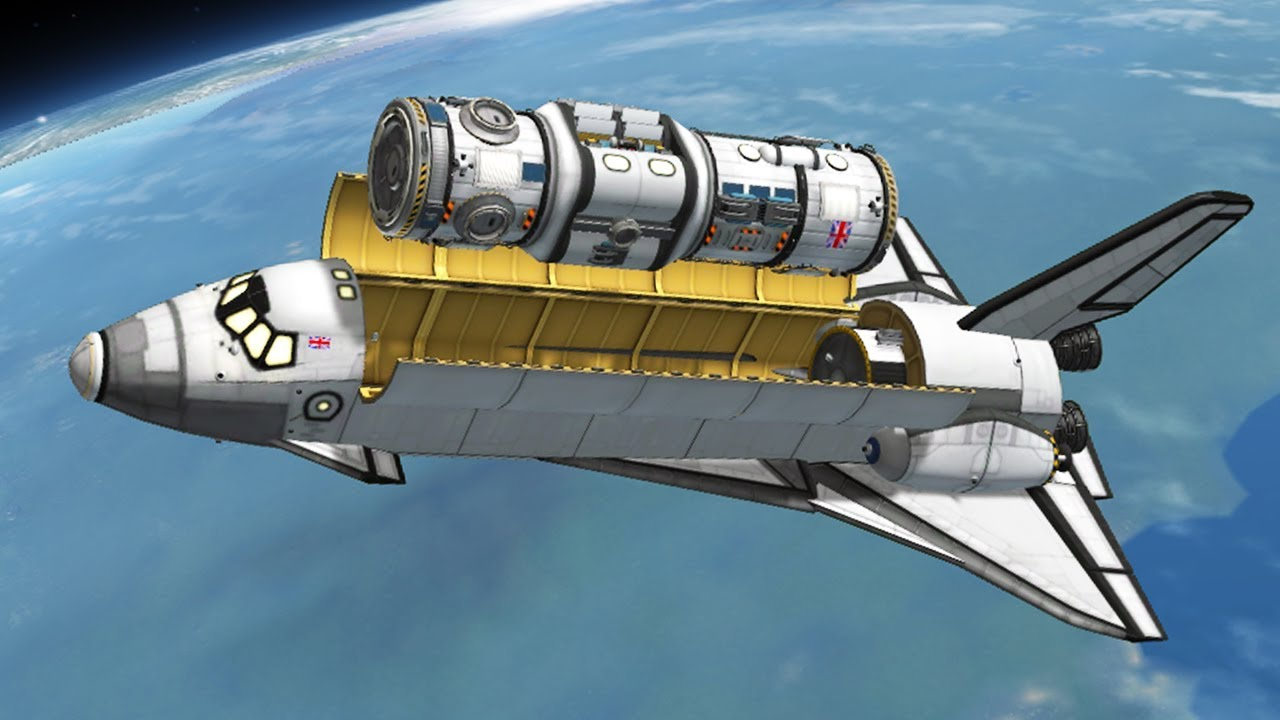 Download KSP: Building a Space Station with Shuttles!