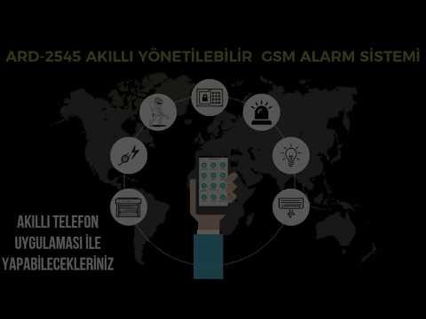ARD-2545 Akıllı Yönetilebilir GSM Alarm Sistemi Akıllı Telefon Uygulaması ile yapabilecekleriniz?
