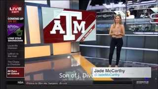 Jade McCarthy in Leggings & Sara Walsh (Sportscenter)