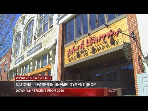 ALABAMA'S UNEMPLOYMENT RATE DROP BEST IN NATION