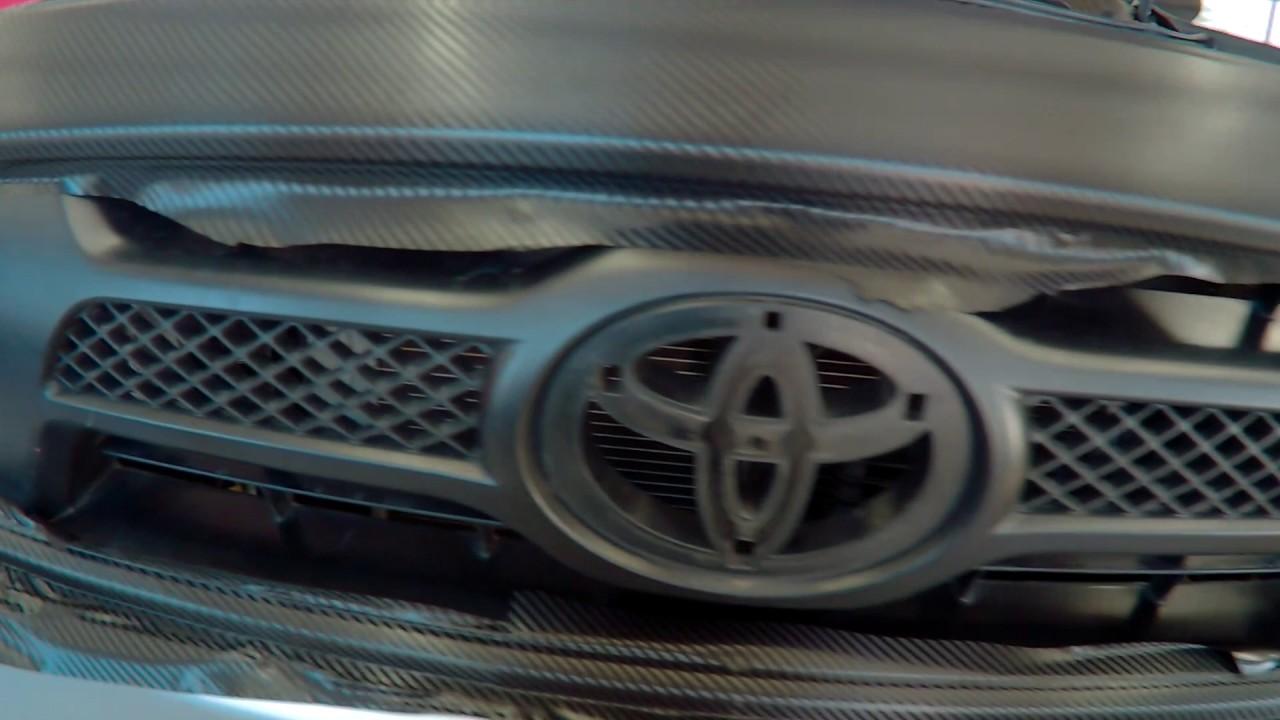 Toyota Tacoma Carbon Fiber Vinyl Wrap Grill Rearbumper