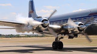 Duxford Flying Legends. Red Bull DC6B Display - 2018