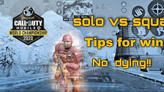 HOW TO NEVER DIE  IN CODM | BATTLE ROYALE TIPS AND TRICKS