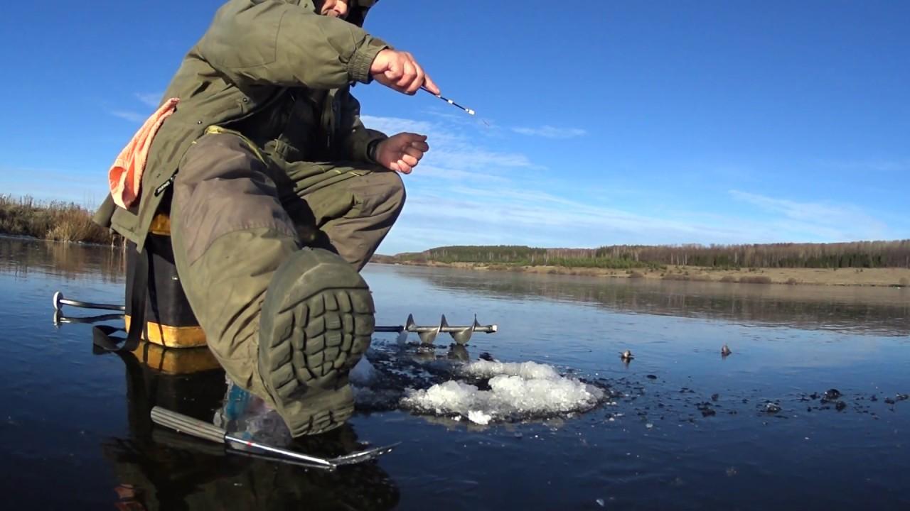 Рыбалка первый лед волга видео