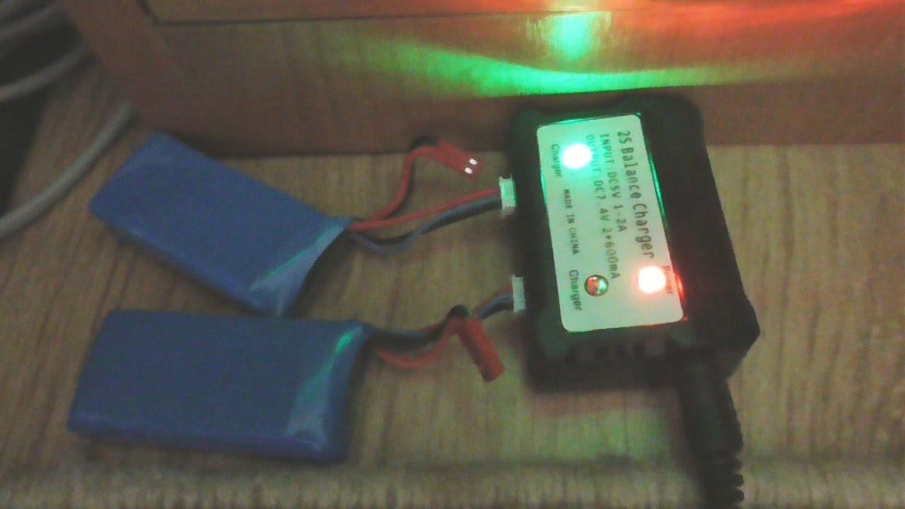 2S 7.4V <b>LiPo</b> USB Battery Balance Charger for RC Quadcopter ...