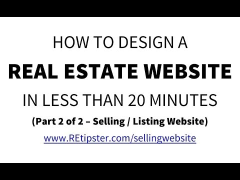 How To Create A Selling Website In Less Than 20 Minutes (2 of 2) - Web Design w/ AgentPress