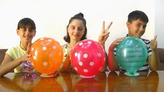 Easy Experiments for Kids and Learn Colors with Balloons