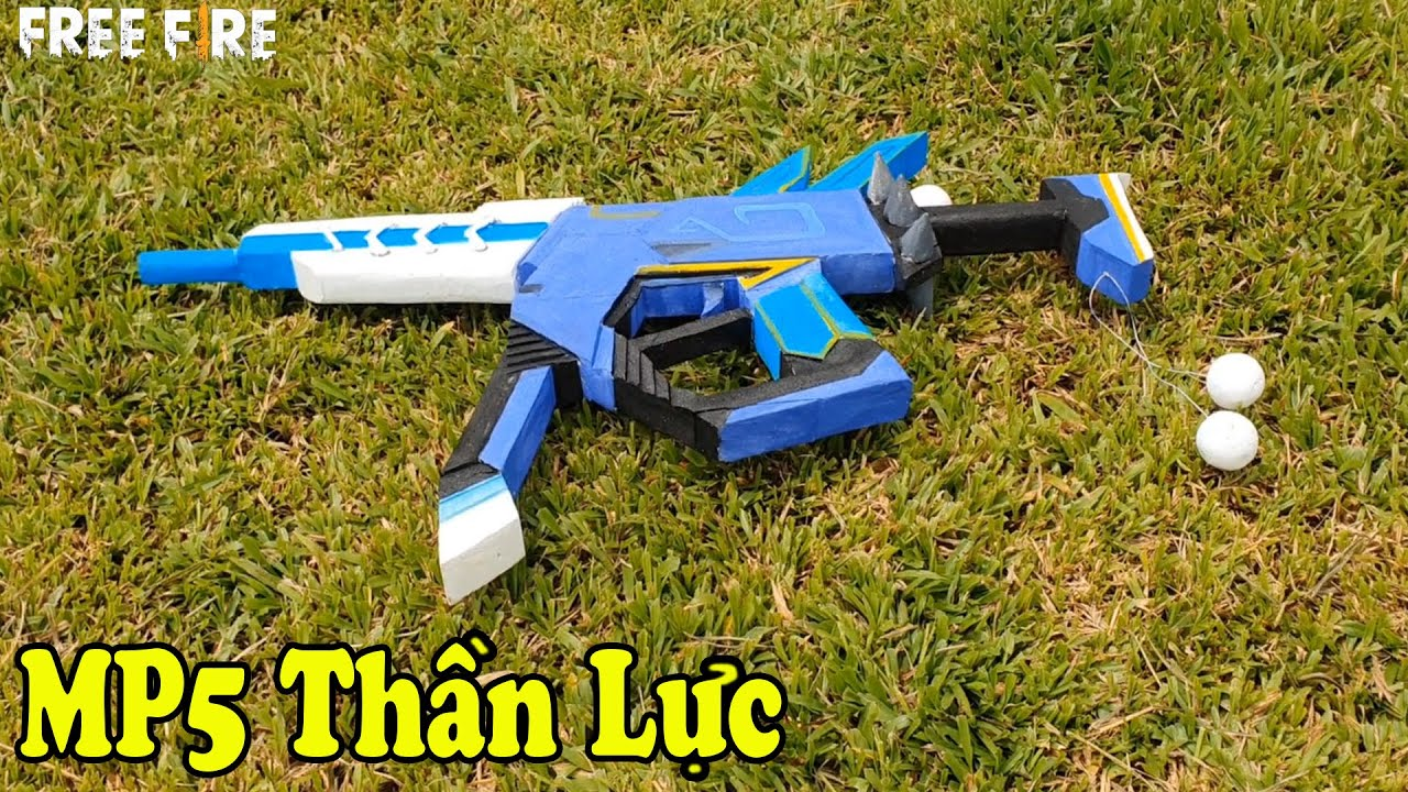 """Chế Tạo Súng """"MP5 Thần Lực"""" Trong Game Free Fire, How To Make MP5 Spinning Biro 