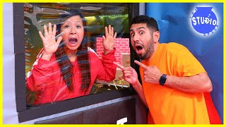 Ryan's Mommy LOCKED IN Giant Secret Spy Box Fort Vault! Can she ESCAPE!?