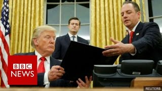 Donald Trump's team in fresh war of words with US media   BBC News