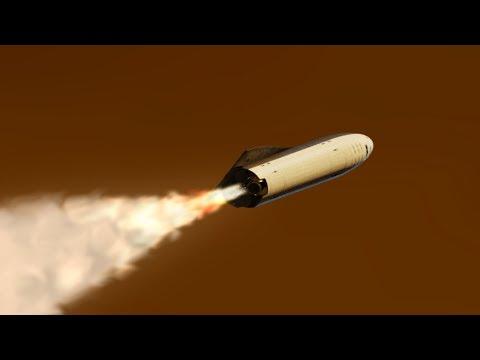 SpaceX BFR Mars Landing