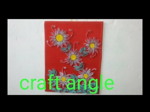 DIY Paper quilling wall art/ idea for home decoration,  DIY quilling wall art.
