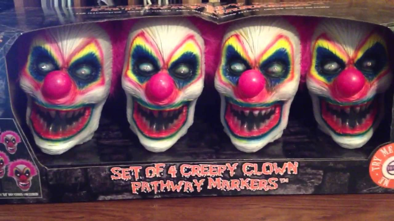 spirit halloween creepy clown pathway markers youtube - Halloween Pathway Lights