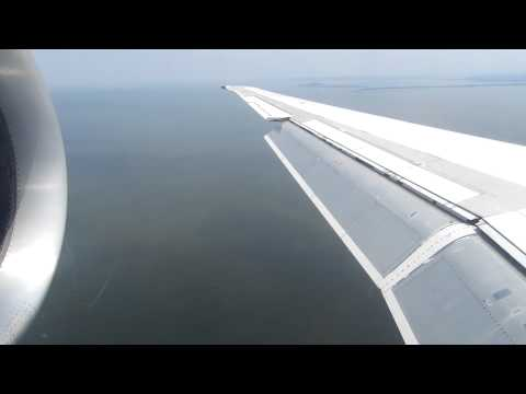 Air Uganda MD-87 Landing in Entebbe, Uganda - Window View